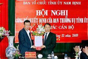 Ban Tổ chức Tỉnh ủy Nam Định hoàn thành việc kiện toàn, sắp xếp tổ chức bộ máy