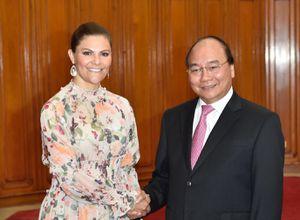 Thủ tướng tiếp Công chúa kế vị Thụy Điển