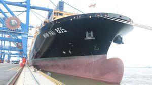Cảng Container Quốc tế Hải Phòng đón tàu lớn nhất từ trước đến nay