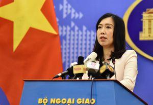 Việt Nam lên tiếng về hoạt động của tàu hải quân Mỹ ở Biển Đông