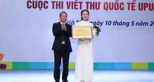 Trao giải cuộc thi Viết thư Quốc tế UPU năm 2019