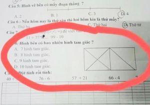 Đếm hình tam giác và 6 bài toán tiểu học 'chia rẽ' cộng đồng mạng