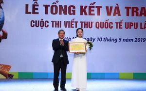 'Người hùng Ozone' đạt giải Nhất cuộc thi Viết thư quốc tế UPU lần 48