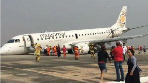 Máy bay Myanmar phải hạ cánh bằng bụng