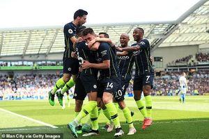 Thắng dễ Brighton 4-1, Man City bảo vệ thành công ngôi vương ở NHA