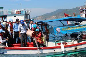 Khánh Hòa thả cá giống tái tạo nguồn thủy sản