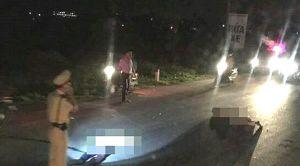 Thông tin chính thức vụ Trung tá CSGT bị xe máy tông ở Nghệ An