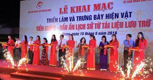 Khai mạc triển lãm 'Tiền Giang - Dấu ấn lịch sử tài liệu lưu trữ'