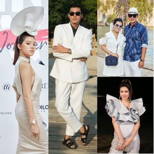 Jolie Nguyễn nổi bật với chiếc mũ cầu kỳ của NTK Nguyễn Tiến Truyển trước giờ G show 'Fashion Voyage 2: Lost in Wonder'
