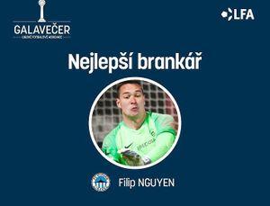 Thủ môn Việt kiều Filip Nguyễn bất ngờ nhận giải xuất sắc nhất CH Séc
