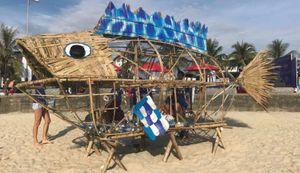 Ấm lòng dự án' Bống ăn rác' tại biển Đà Nẵng