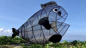 Dự án 'Bống ăn rác' lần đầu tiên xuất hiện tại bãi biển Đà Nẵng