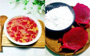 Cách làm chè hạt lựu từ quả thanh long giòn dai, ăn là mê
