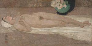 Tranh thiếu nữ khỏa thân của Lê Phổ được mua với giá kỷ lục 1,4 triệu USD