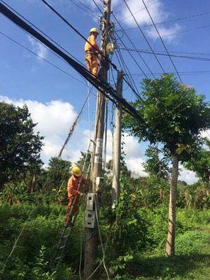Loại bỏ hiểm nguy về điện trong mùa mưa bão