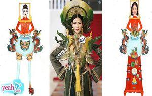 Hoàng Thùy 'nổi gai óc' với quốc phục theo concept 'bàn thờ' được đề cử cho cuộc thi Hoa hậu Hoàn vũ thế giới 2019