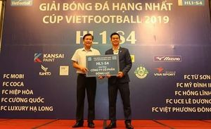 10 đội dự giải bóng đá hạng Nhất - Cúp Vietfootball 2019