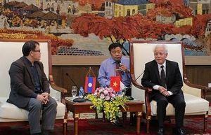 Đoàn công tác chính phủ - Hội chữ thập đỏ Lào thăm và làm việc tại Hải Phòng