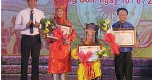 Lạng Sơn vinh danh các nghệ nhân trong lĩnh vực di sản văn hóa phi vật thể