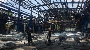 Phú Thọ: Cháy lớn tại KCN Thụy Vân