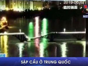 Cây cầu bất ngờ đổ sập, 2 xe ôtô rơi thẳng xuống sông