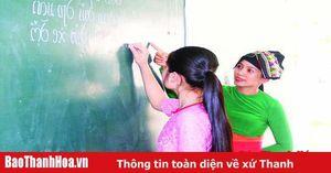 Huyện Thường Xuân đưa môn tiếng Thái vào dạy ở trường học