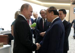 Chùm ảnh: Thủ tướng gặp Tổng thống Nga, Thủ tướng Australia, Tổng Thư ký Liên Hợp Quốc
