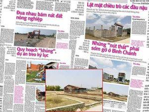 Bình Chánh ngăn chặn hai thửa đất phân lô bán nền để điều tra
