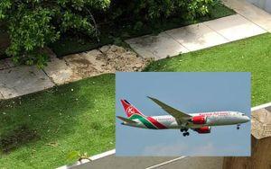Kinh hãi thi thể rơi từ máy bay suýt trúng người đàn ông đang tắm nắng trong vườn