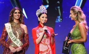 Phương Khánh diện áo dài nền nã chấm thi 'Hoa hậu Trái đất Mỹ 2019'