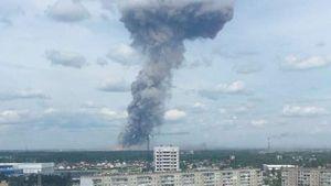 Hỏa hoạn lớn tại nhà máy điện ở Nga khiến 7 người bị thương