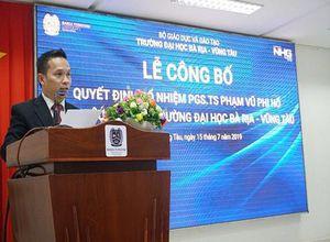 Trường Đại học Bà Rịa – Vũng Tàu có thêm một Phó Hiệu trưởng