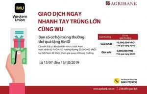 Cùng Agribank 'Giao dịch ngay – Nhanh tay trúng lớn cùng WU'