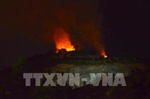 Cơ bản khống chế vụ cháy rừng trong đêm tại Đà Nẵng