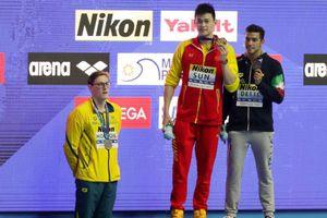 Giải bơi lội VĐTG 2019: Sun Yang vô địch 400m tự do, Horton từ chối đứng chung bục nhận huy chương