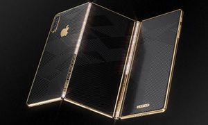 Ngắm iPhone độ màn hình gập theo phong cách Samsung Galaxy Fold