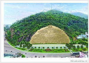 Bình Định: Tạc phù điêu 'Lạc Long Quân - Âu Cơ' trên vách núi