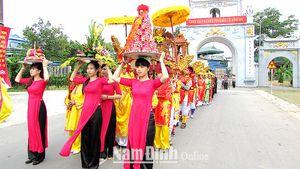 Nam Định: Giá trị lịch sử, văn hóa và nghệ thuật kiến trúc dân gian di tích Đền Lựu Phố