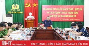 Quan tâm hơn nữa công tác lao động, hướng nghiệp tại Trại giam Xuân Hà