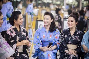 Hoa hậu Vũ Thúy Nga hội ngộ dàn người đẹp trong đêm Giao lưu văn hóa Nhật Bản