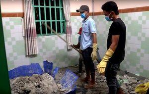 Thực nghiệm hiện trường vụ giết người phi tang xác vào bê tông