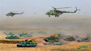 Trực thăng Nga, thiết giáp Trung Quốc... phối hợp tuyệt đẹp trên chiến trường