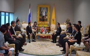 Phó Chủ tịch, Tổng Thư ký Ủy ban T.Ư Mặt trận Tổ quốc Việt Nam Hầu A Lềnh thăm và làm việc tại Thái-lan