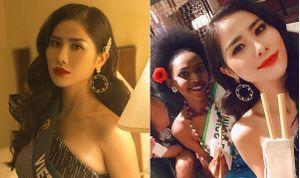 Hoàng Hạnh mang ống hút gỗ tặng các thí sinh 'Hoa hậu Trái đất 2019'