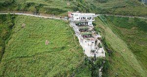 Xây dựng công trình 'khủng' không phép trên đỉnh Mã Pí Lèng