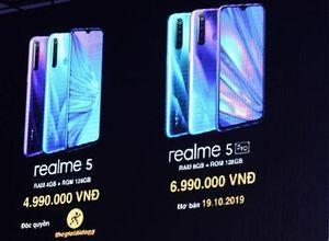 Bộ đôi smartphone Realme 5 và 5 Pro trang bị cụm 4 camera ra mắt thị trường