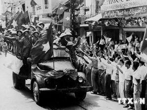 Hình ảnh lịch sử khi Việt Minh tiếp quản thủ đô trong ngày 10/10