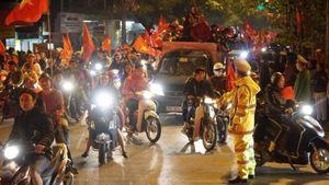 Cảnh sát Hà Nội đảm bảo ANTT, ATGT trận bóng đá Việt Nam - Malaysia