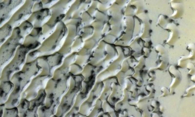 Lạ lùng cồn cát như kem sôcôla tan chảy trên sao Hỏa