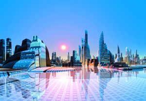 Thành phố tương lai trên sa mạc